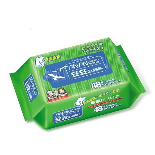 《安安》成人柔護濕巾加大型(48片/包)