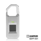《ARMSTRONG》指紋隨身行李鎖SDFP-001(時尚銀)