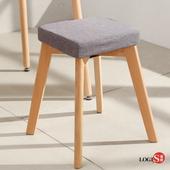LOGIS邏爵- 現代摩登方形椅凳 /餐椅/休閒椅/書桌椅/北歐風 HH68(灰)