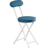 布面多彩圓折疊椅  30x45x74cm(藍/綠)