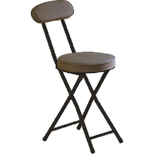 布面多彩圓折疊椅  30x45x74cm(咖啡)