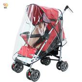 《月陽》通用型透氣超厚兒童推車防雨罩防風罩遮雨罩(P108)