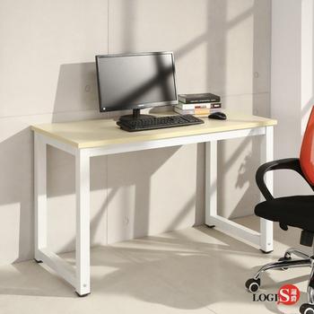 LOGIS極簡工業風白腳桌 工作桌 長桌 電腦桌 辦公桌 LS-612W(淺木紋)