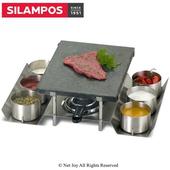 《葡萄牙SILAMPOS》火山岩石石板石頭烤盤組(含6碗)(SLSTONE6)