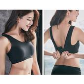 《Secret Garden》無痕透氣網孔休閒排釦無鋼圈內衣胸罩SGMX12 (共三色)(F 黑色)