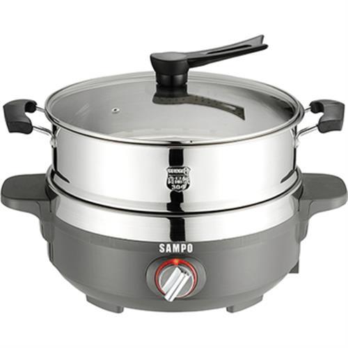 《聲寶》蒸鮮電火鍋(5L)(TQ-L17501CL/#304不銹鋼)