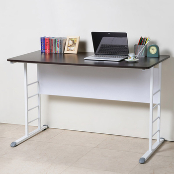 ★結帳現折★Homelike 亞瑟120cm美型書桌(白腳)