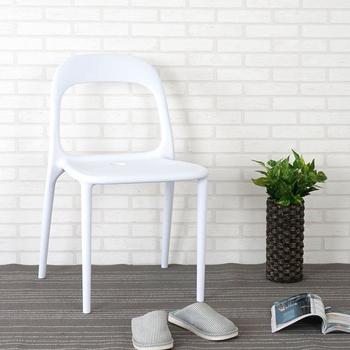 《Homelike》布魯克造型餐椅(純淨白)