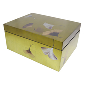 《SCENEAST》昕東方手工漆器-銀杏收納盒(大-金色)