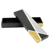 《SCENEAST》幾何漆器- 12層無毒漆收納盒(黑金)B023-D20 $950
