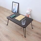 《頂堅》寬60x深40x高31/公分-折疊桌/野餐桌/和室桌/摺疊桌(二色可選)-2入/組(深胡桃木色)