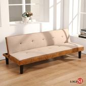 邏爵LOGIS多功能可折沙發床 折疊沙發 懶人沙發 折疊床 JH992(淡黃色)