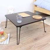 《頂堅》寬60x高31/公分-正方形折疊桌/野餐桌/和室桌/摺疊桌/休閒桌(二色可選)(深胡桃木色)