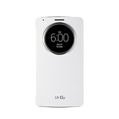 《LG》G3 D855 原廠視窗感應式皮套 白色/ 支援無線充電 (台灣公司貨)(白色)