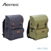 《Aerfeis 阿爾飛斯》AS-1722 復古系列相機後背包(黑)