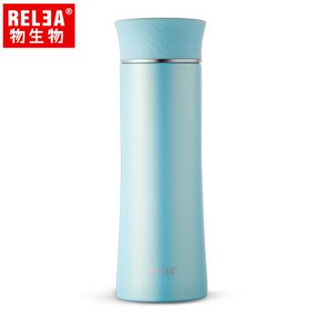 《香港RELEA物生物》400ml清羽316不鏽鋼輕量保溫杯(淺草綠)