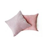 《Sceneast》荷蘭絨鋪棉抱枕套-不含枕心(藕色-45x45cm)