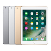 《Apple》iPad (2018) 9.7吋 128G  Wifi【贈-側翻皮套】(太空灰)