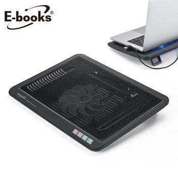 《E-books》C1 薄型筆電散熱底座(黑)