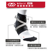 《MCDAVID》八字綁帶護踝(MD432-S-25-26.5cm)