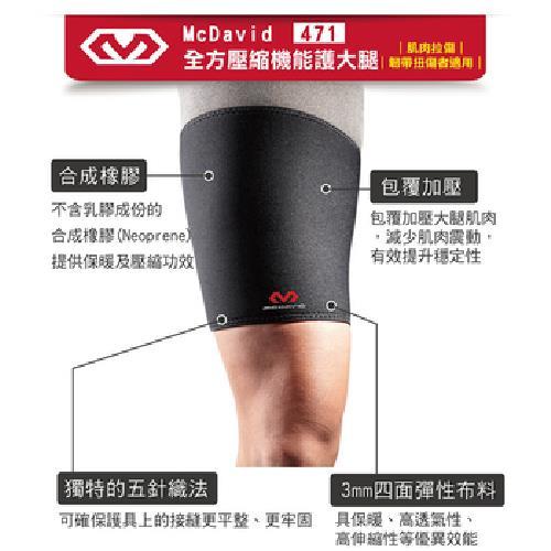 《MCDAVID》壓縮機能護大腿(MD471-L)