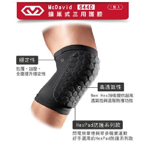 《MCDAVID》蜂巢式三用護膝- 一組2件(MD6440-M)