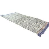 《SCENEAST》印式工藝 暈彩流蘇地墊 寶藍 523-01-V1 (navy blue)50*80 cm $340
