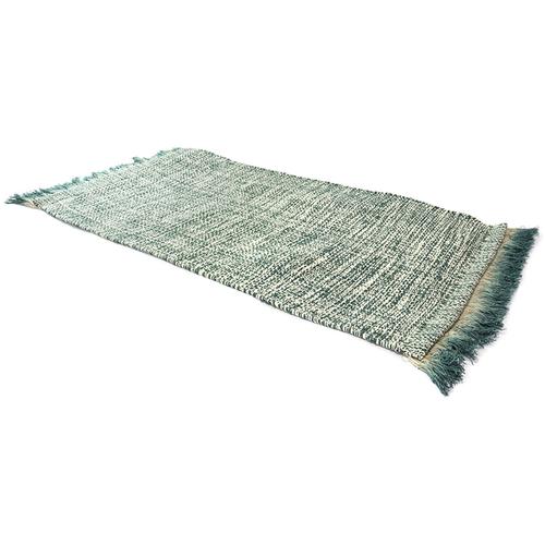 《SCENEAST》印式工藝 麻花流蘇地墊 深綠 523-01-V1 (dark green)(50*80 cm)