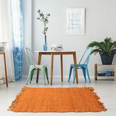 《halla malmo》印式工藝 黃麻編織地墊 橘色 Burma Plain-Orange(40*60 cm)