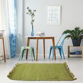 《halla malmo》印式工藝 黃麻編織地墊 萊姆綠 Burma Plain-Lime Green(40*60 cm)