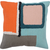 《halla malmo》北歐風棉質抱枕套-幾何風(不含枕心-45X45cm)