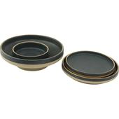 《SCENEAST》深藍金邊系列-8吋盤(直徑28.5x高2cm)