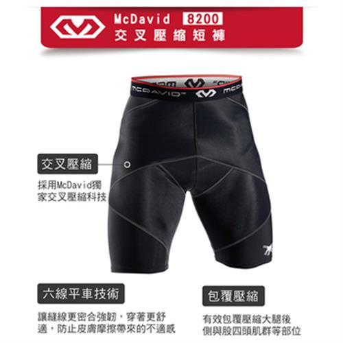 《MCDAVID》交叉壓縮短褲(MD8200-L-34-38cm)