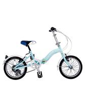 《BIKEONE》LP1  SHIMANO 16吋6速摺疊兒童腳踏車 超輕便好攜好摺 節省空間 攜帶方便小折自行車(藍色)