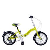 《BIKEONE》LP1  SHIMANO 16吋6速摺疊兒童腳踏車 超輕便好攜好摺 節省空間 攜帶方便小折自行車(綠色)