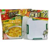 《康寶》濃湯四入送保鮮盒(新火腿玉米-49.7g*4包)