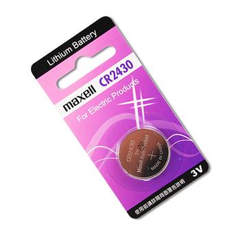 日本品牌水銀電池 maxell CR2430 鈕扣型水銀電池(一組2入)