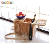 《DecoBox》羊駝色小型貓犬寵物揹籃(野餐籃, 購物籃)