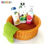 《DecoBox》日式澡堂衣物小收納籃(澡堂,SPA,三溫暖,拖鞋籃, 備品籃, 收納雜物籃)