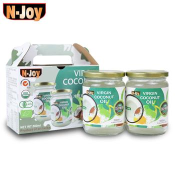 《N-Joy 恩久》500ml有機冷壓初榨椰子油(2入禮盒)