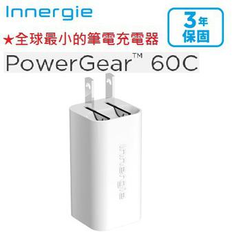 《台達電》Innergie PowerGear™ 60C / 60 瓦 USB-C 筆電充電器(單品)