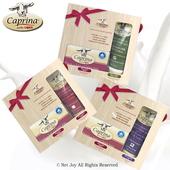 《Caprina 肯拿士》新鮮山羊奶經典禮盒(身體乳液75ml與原味皂110g)超值3入組