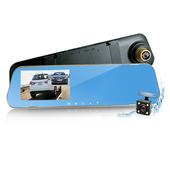 《行走天下》CR08 前後雙鏡頭防眩藍光後視鏡型行車記錄器 $888