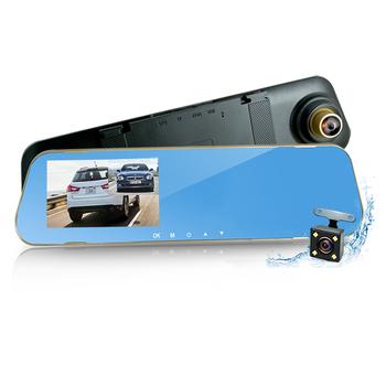 《行走天下》CR08 前後雙鏡頭防眩藍光後視鏡型行車記錄器