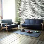 《YKSHOUSE》北歐良品2+3人座皮沙發