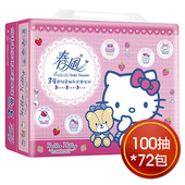 《春風》美式Kitty三層抽取式衛生紙100抽*24包*3串
