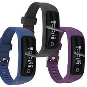 《IS愛思》HO20 NFC感應機能運動心率智慧手環(藍色)