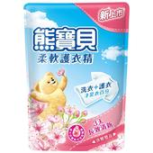 《熊寶貝》柔軟護衣精補充包-1750ml(淡雅櫻花香)