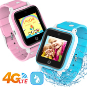 《IS愛思》CW-10 4G LTE定位防水視訊兒童智慧手錶(甜蜜粉)