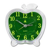 《PEARL》PEARL 月光小境-蘋果造型夜光超靜音掃描貪睡鬧鐘PT-185